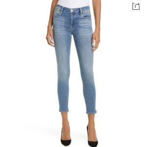 Frame Le High Ankle Skinny jeans in canon
